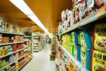 Supermarket Bokeh, Fuji Industrial 400